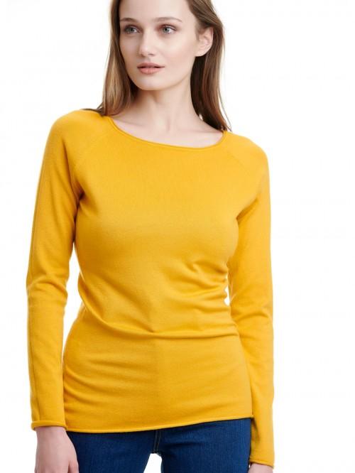 Πλεκτή κίτρινη μπλούζα